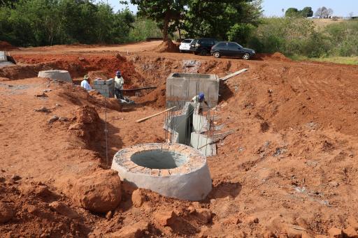 Obra de infraestrutura no São Cosme segue em andamento