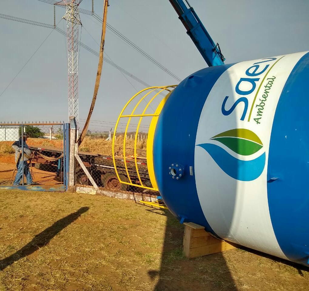 Saev Ambiental recebe equipamentos da Estação Compacta de Tratamento de Esgoto da Vila Carvalho