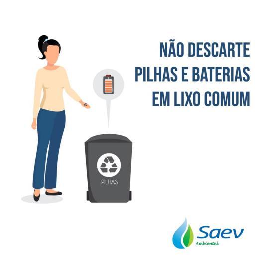 Não descarte pilhas e baterias em lixo comum